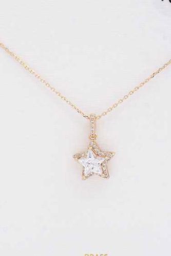 Star Rhinestone Charm Necklace