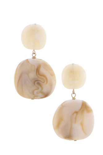 Acetate Resin Double Circle Earring