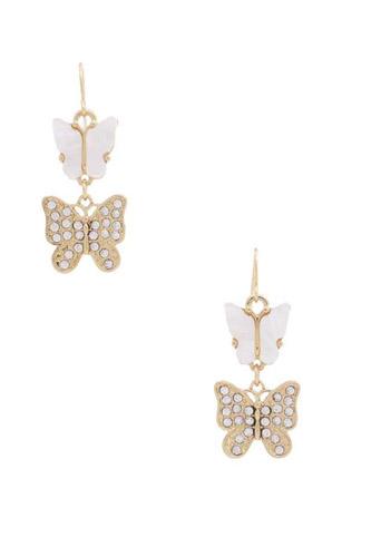 Double Butterfly Dangle Earring