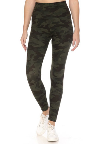 Long Yoga Style Banded Lined Tie Dye Printed Knit Legging With High Waist.