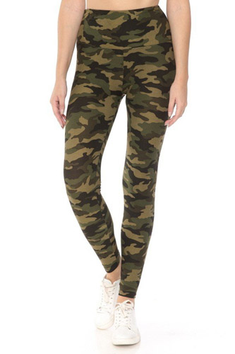Long Yoga Style Banded Lined Tie Dye Printed Knit Legging With High Waist
