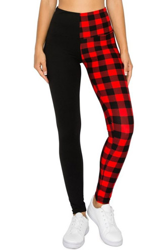 Spliced 5-inch Long Yoga Style Banded Lined Knit Legging With High Waist