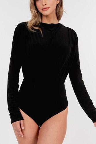 Open Back Satin Bodysuit