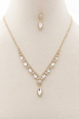 Marquise Rhinestone Necklace