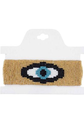 Eye Brick Stitch Bracelet