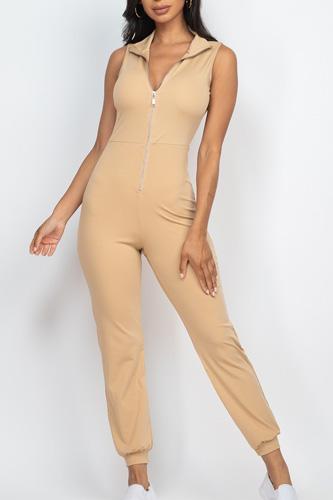 Zip Front Jumpsuit