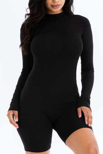 Ribbed Knit Romper