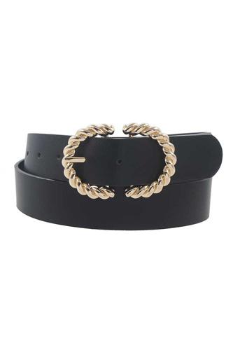 Metal Twist Buckle Belt