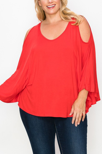 Solid Top Featuring Kimono Style Sleeves