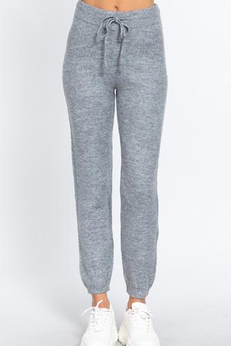 Drawstring Sweater Long Pants