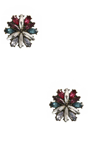 Stone Flower Stud Earring