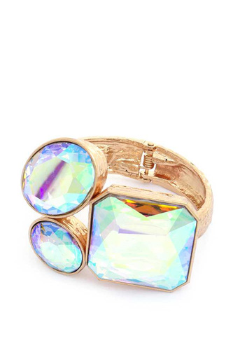 Chunky Crystal Cuff Bracelet
