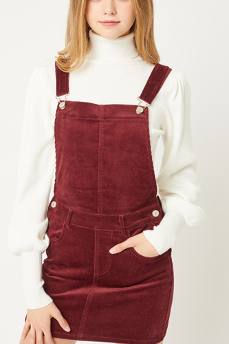 Overall Dress W/ Adjustable Straps, Belt Loops, And Two Front And Back Pockets
