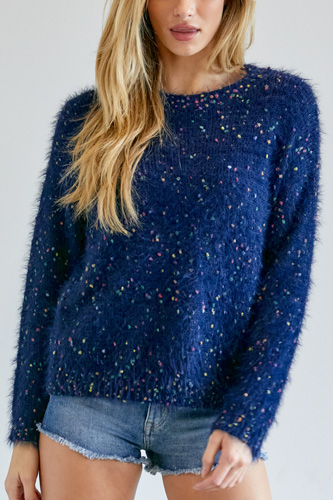Cute Multi Color Polak Dot Sweater