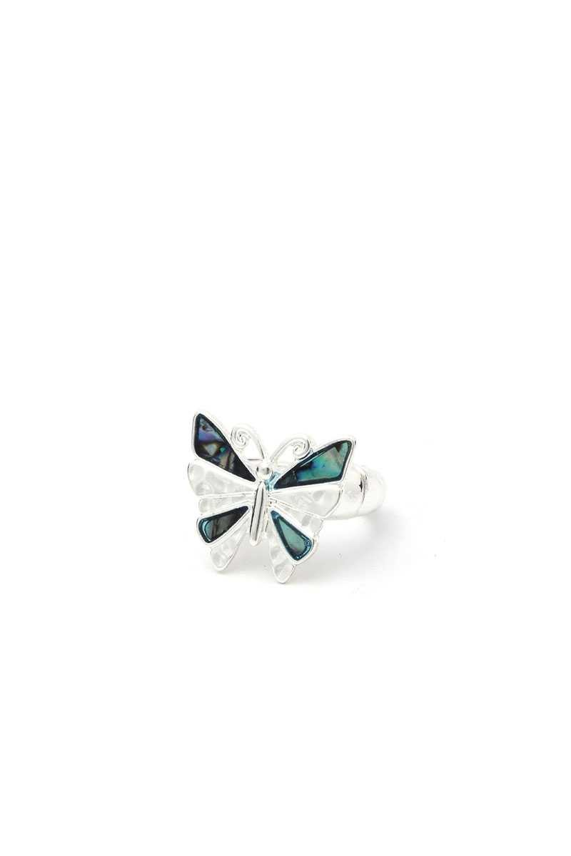 Abalone Butterfly Stretch Ring