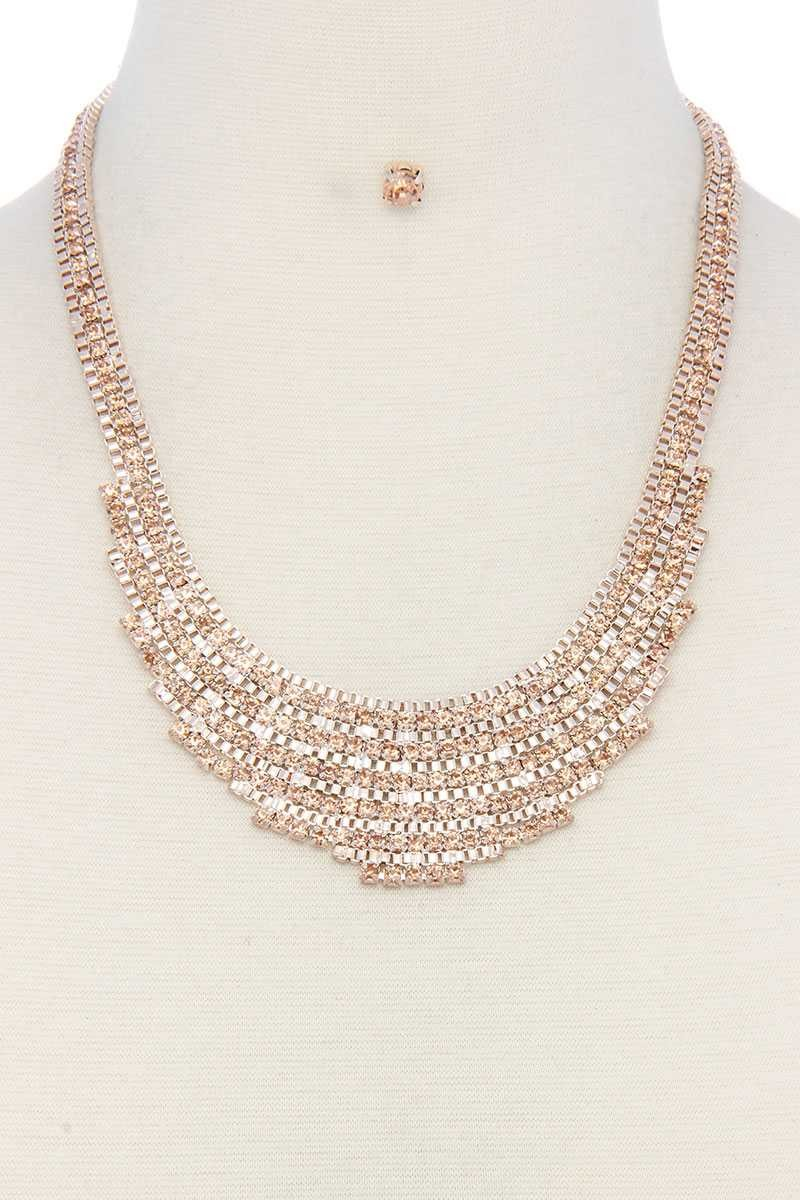 Rhinestone Short Necklace