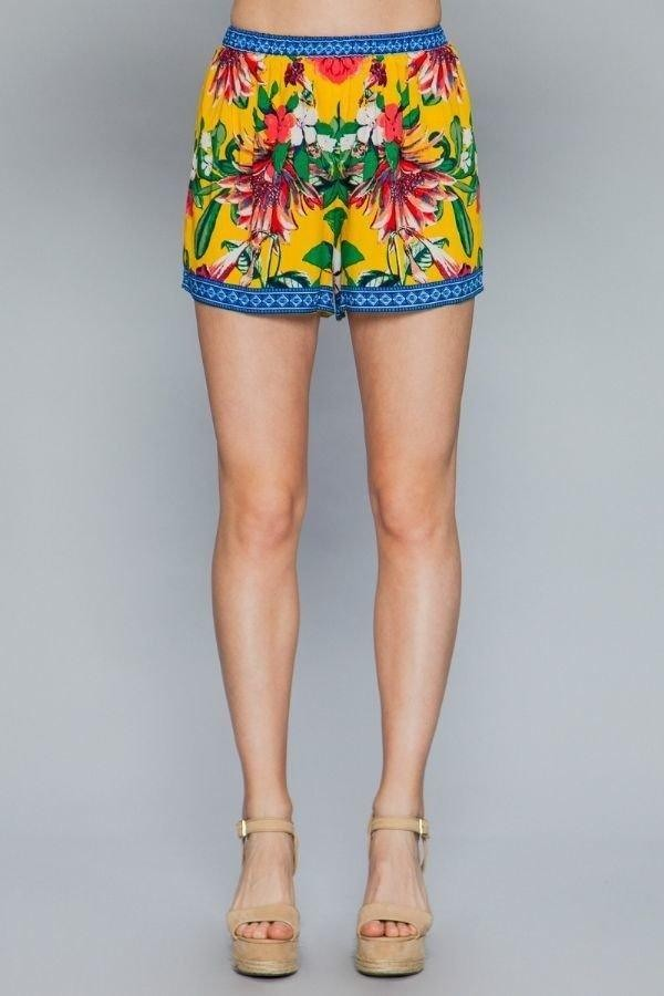 Floral Print Lounge Shorts