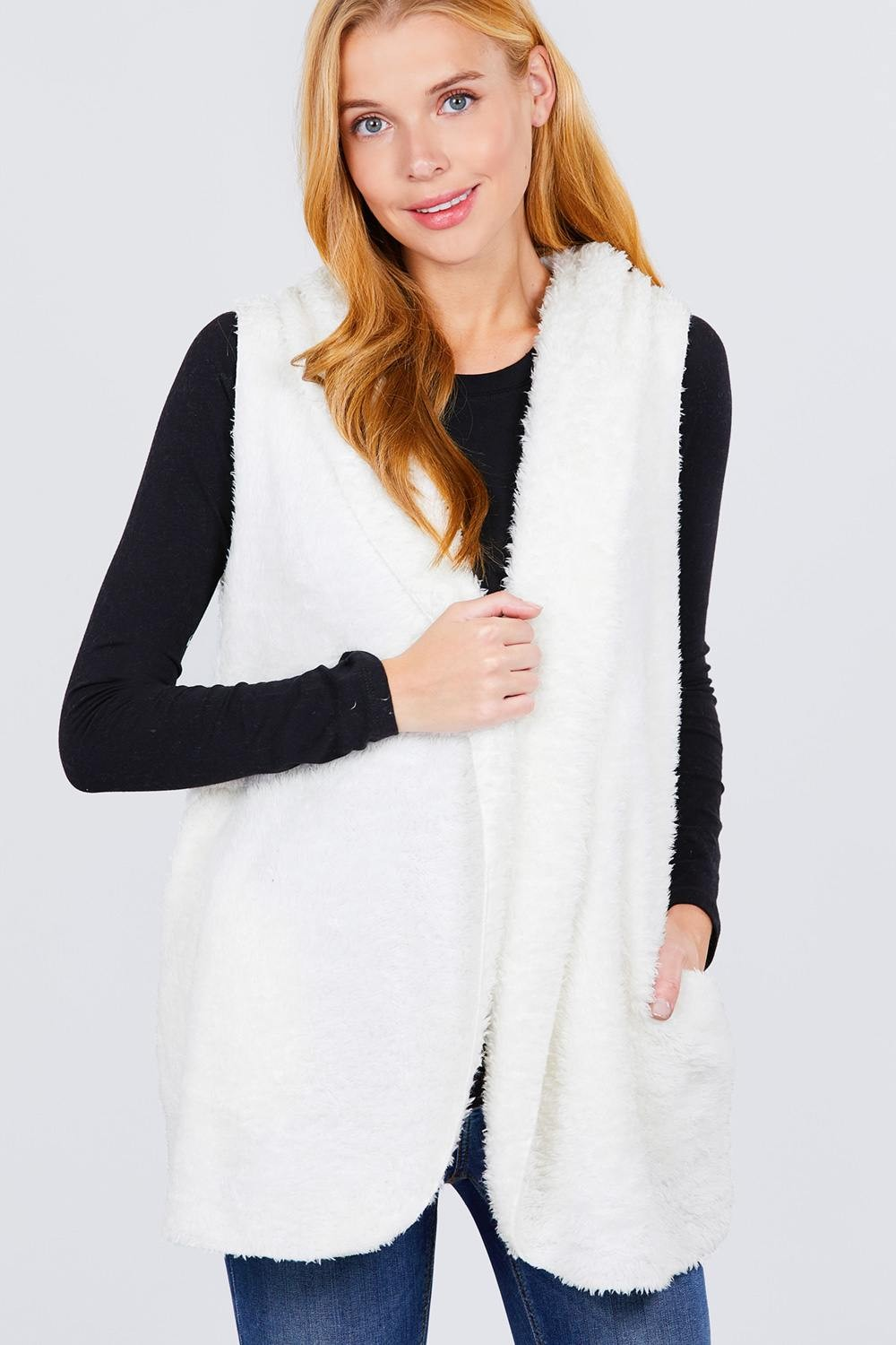 Faux Fur Fluffy Vest