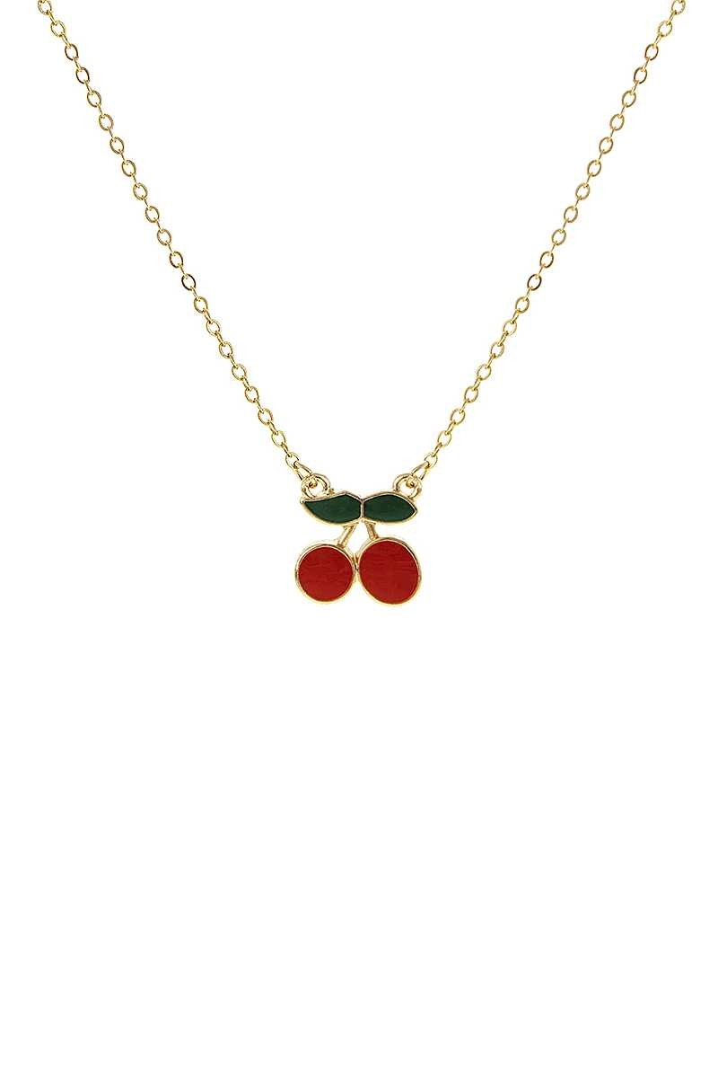 Fashion Cherry Metal Necklace